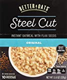 Better Oats Steel Cut Oats with Flax Classic 10 Pouches 11.6 oz (Pack of 2)