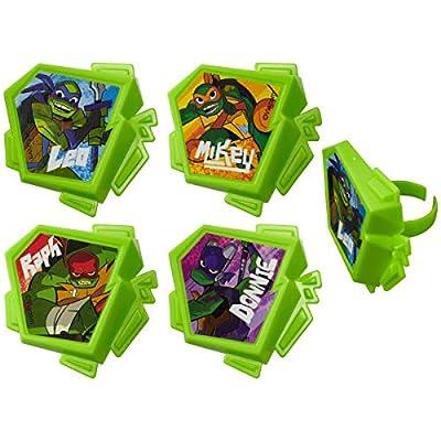 24 Rise of The Teenage Mutant Ninja Turtles TMNT Cupcake Rings Party Supplies: Grocery & Gourmet Food