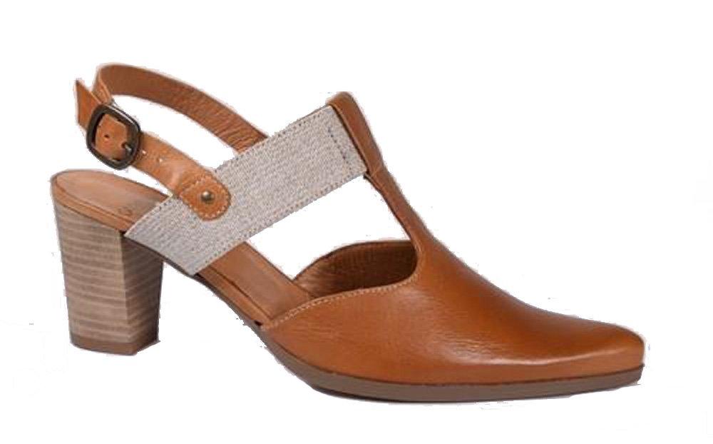 Karston Zapatos de Vestir de Otra Piel Mujer 39.5 EU|ámbar