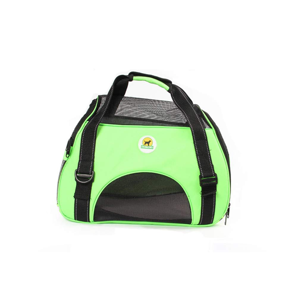 Pet Carrier for Dogs & Cats Portable Soft-Sided Travel Bag (Green)