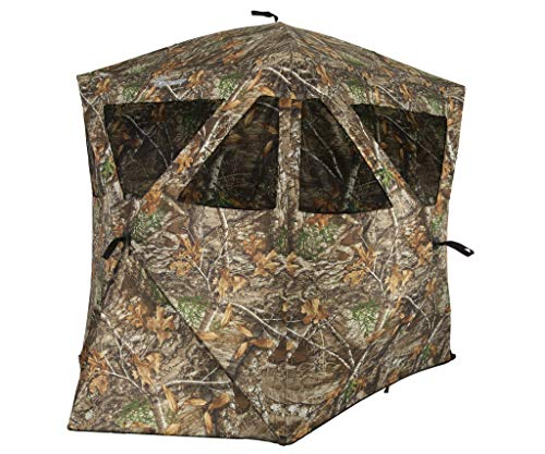 Ameristep Caretaker Kick Out Pop-Up Ground Blind, Premium Hunting Blind, Realtree Edge Camo