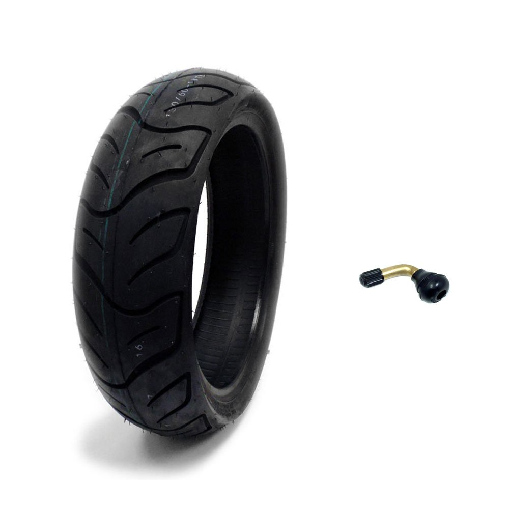 Tire 130/60-13 Tubeless Front/Rear Motorcycle Scooter Moped + FREE TR87 Bent Metal Valve Stem