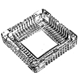 "Amlong Crystal Large Classic Square Ashtray 6"" x 6"" inch."