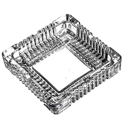 Glass Ashtray Square - Amlong Crystal Large Classic Square Ashtray 6