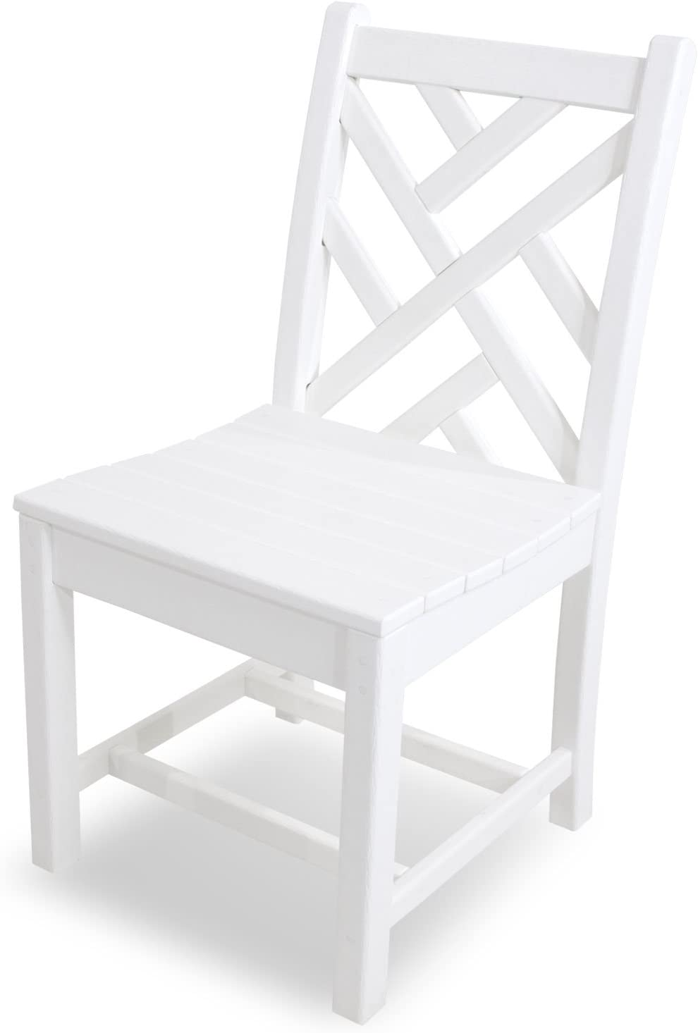 POLYWOOD CDD100WH Chippendale Dining Side Chair, White