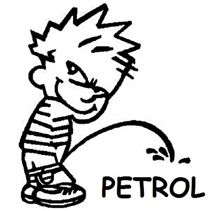 Onlinemart funny boy peeing petrol universal for all car stickers decal 11 5x11 5