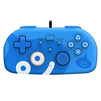 Hori SONY Licensed Wired Controller Light Small Blue Dragon Quest Slime Edition for PS4