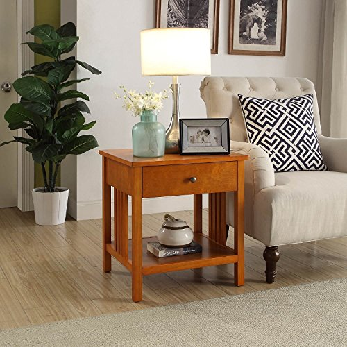 Briarwood Home Décor Brantley Wood End Table Oak Oak Finish (Sofa Briarwood)