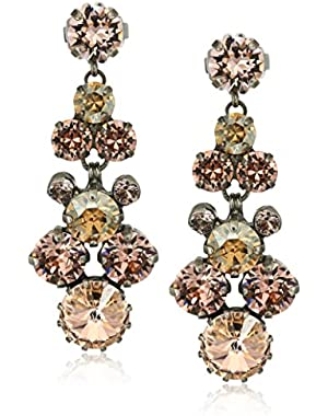 Satin Blush Well-Rounded Crystal Drop Earrings