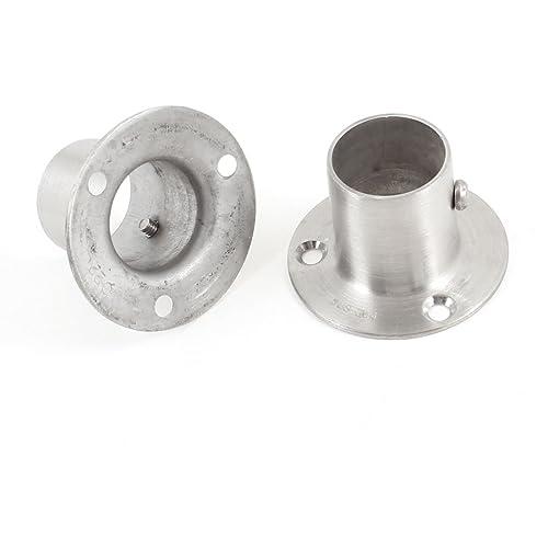 Bqlzr 22mm Stainless Steel Pipe Flange Socket Rod Holder