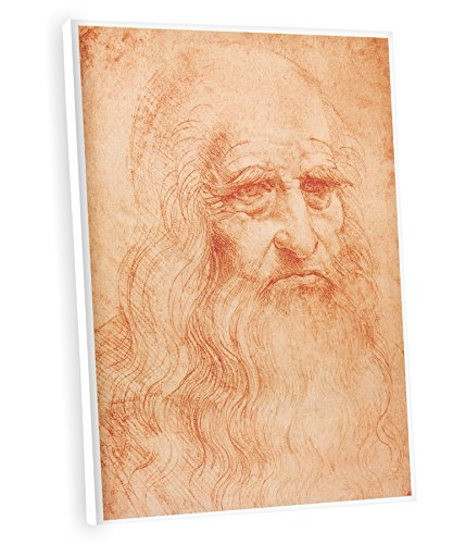 (Niwo ART (TM) - Self Portrait, by Leonardo DaVinci, Oil painting Reproduction - Giclee Wall Art for Home Decor, Gallery Wrapped, Stretched, Framed Ready to Hang (18