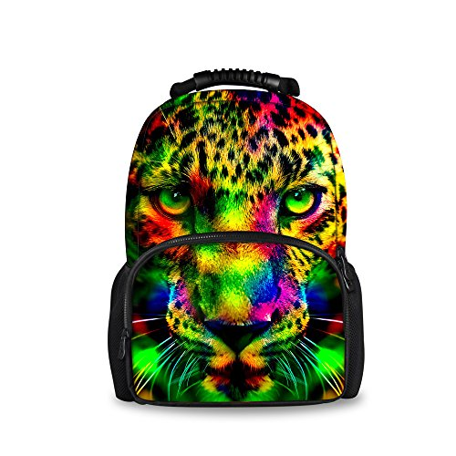 Print animal3 ThiKin Daypacks Casual Black Backpack for Felt Hiking Double Stylish Bag Laptop Backpacks Trip Travelling Animal Bookbags zipped Wild Casual Students Polyester School College Weekend rExvE4f