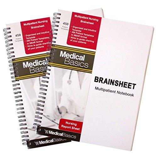 Nursing Brain Sheet Multiple Patient Notebook - Nurse and CNA Report Sheet - 3 Patients per Template