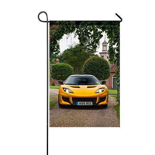 Fenda Garden Flag lotus evora yellow front view 12x18 inches(Without Flagpole) (The Notes View Lotus)