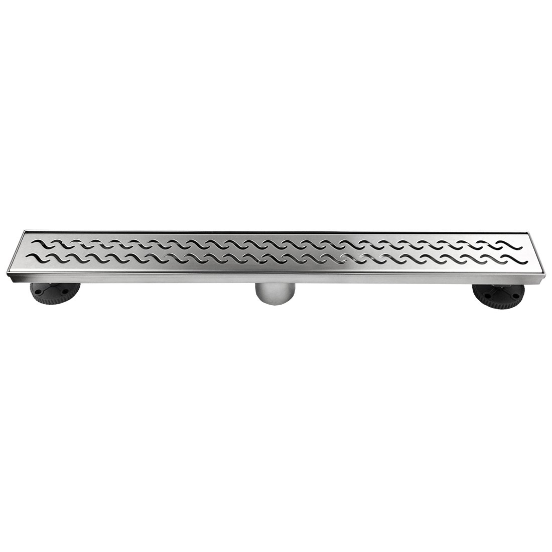 Neodrain 28 Inch Rectangular Linear Shower Drain with Slight Sea Grate, Brushed 304 Stainless Steel Bathroom Floor Drain,Shower Floor Drain Includes Adjustable Leveling Feet, Hair Strainer by Neodrain (Image #6)