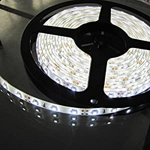 Dacawin 3528 SMD 300 LED Waterproof IP65 Pure White 900LM LED Flexible Light Strip (White)