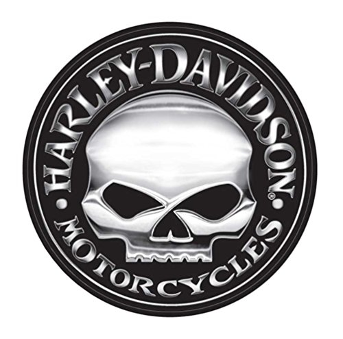Davidson Crossbones Harley - Harley-Davidson Decal, Silver Willie G Skull Logo, X-Large 29 Inch CG4331