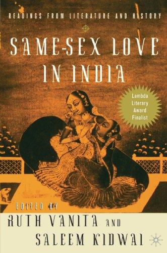 Same-Sex Love in India: Readings in Indian Literature by Ruth Vanita
