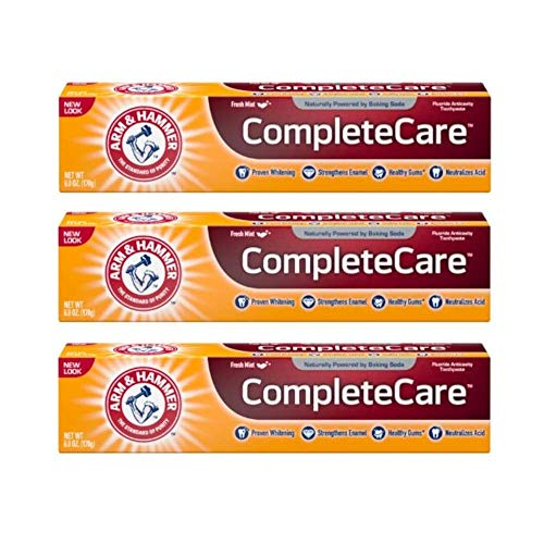 ARM & HAMMER Complete Care Fluoride Anticavity Toothpaste, Fresh Mint 6 oz (Pack of 3) Arm Hammer Enamel Care Toothpaste