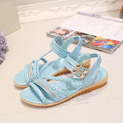 hunpta - Sandalias deportivas para mujer Azul