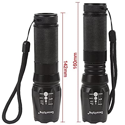 ANJALIA 2000 Lumen Cree XM-L T6 Flashlight