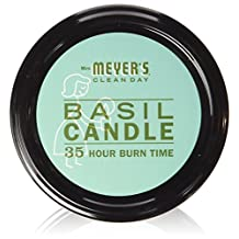 Mrs. Meyers Scented Soy Candle, Basil 7.2 oz