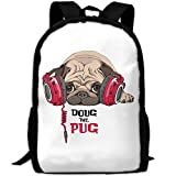 SZYYMM Custom Made Doug The Pug Oxford Cloth Fashion Backpack,Travel/Outdoor Sports/Camping/School, Adjustable Shoulder Strap Storage Dayback For Women And Men For Sale