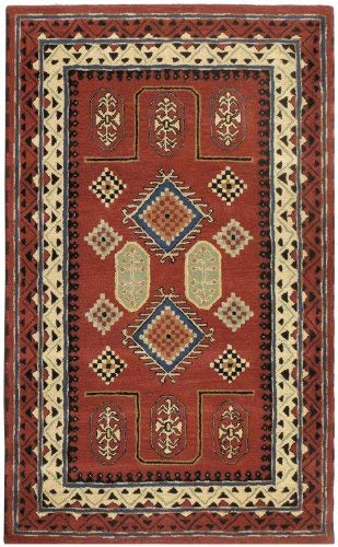 Traditions Bravura Rug, 8-Feet by 11-Feet, Red