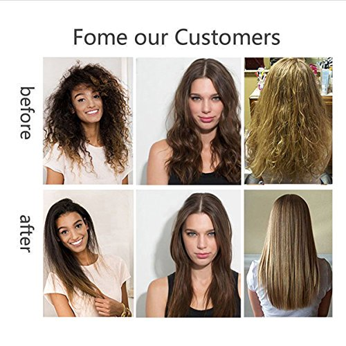 Professional Steam Spray Hair Straightener, ManKami Argan Steam Styler Ceramic Tourmaline Flat Iron Before and after use Results