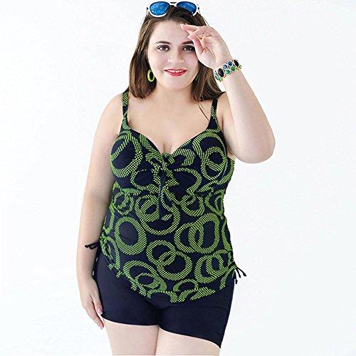 AMYMGLL Großer Bikini Badeanzug Frauen Badeanzug heißer Frühling Badeanzug Europa und die Vereinigten Staaten schnell trocknende verstellbare Schulterriemen hohe Elastizität große Größe Badeanzug Mehr
