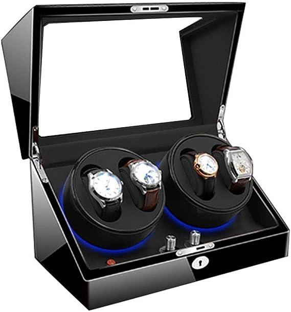 QLL Watch Winder Caja Relojes Automaticos Cajas Giratorias LED ...