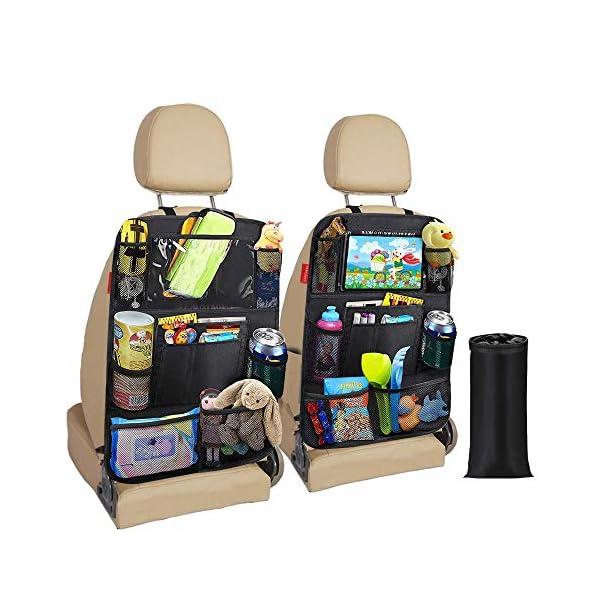 51erZ2yLIsL Awroutdoor Auto Rückenlehnenschutz, 2 Stück Wasserdicht Auto Rücksitz Organizer für Kinder,Rücksitzschoner Kick-Matten…