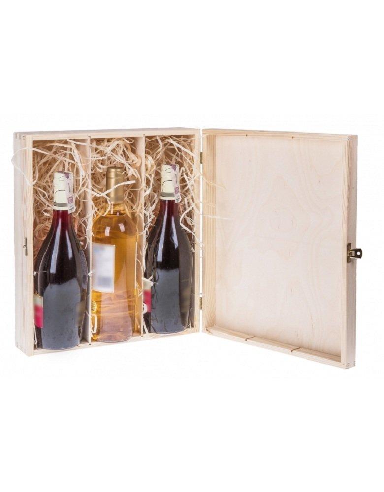 Amazing Girl Scatola pieghevole vino vino bottiglie vino in legno naturale per dipingere decoupage in legno regalo, scatole per vino scatola di legno, Legno, Box für 1 Flasche Wein Amazinggirl