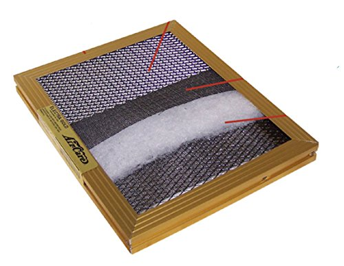 GOLD Series DUSTBUSTER Permanent, Washable, Electrostatic Furnace A/C Filter. ALUMINUM FRAME - Built like a rock in the USA. Attracts dust and allergens like a magnet. (14x30x1) by Air Care (Image #1)