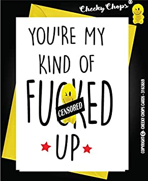 Funny Rude Birthday Card Husband Wife Son Daughter Brother Sister