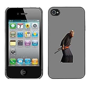 For Apple iPhone 4 / iPhone 4S / 4S Case , Old Man Martial Arts Sword - Diseño Patrón Teléfono Caso Cubierta Case Bumper Duro Protección Case Cover Funda