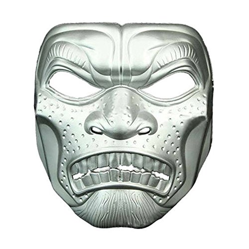 Mardi Gras Party Masquerade Mask,Halloween Film and Television Theme Horror mask Skull Head Adult mask Spartan 300 Warrior Outdoor mask Silver Prom Masks