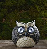 6″ Solar Owl with LED Eyes Garden Statue For Sale