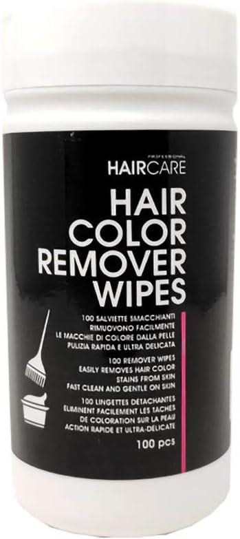 eliminación Color cabello 100 Toallitas para eliminar II restos de color para pelo profesional para peluquería