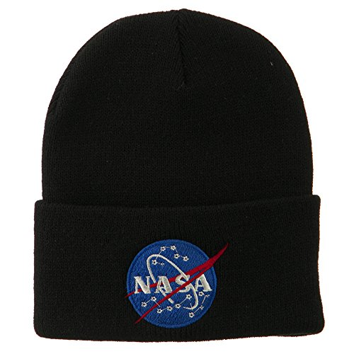 nasa-insignia-embroidered-long-beanie-black-osfm