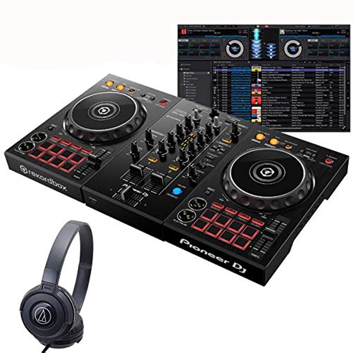 [해외] PIONEER DJ 파이오니아 D 제이 DDJ-400 ATH-S100BK 초심자 헤드폰 세트