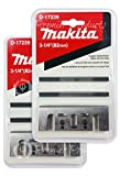 Makita 2 Pack 8 Pc - 3 1 4 Planer Blade Double Edge Set For Planers - Cutting For Hard Wood - 3-1/4'' Tungsten Carbide | 2-Piece Blade