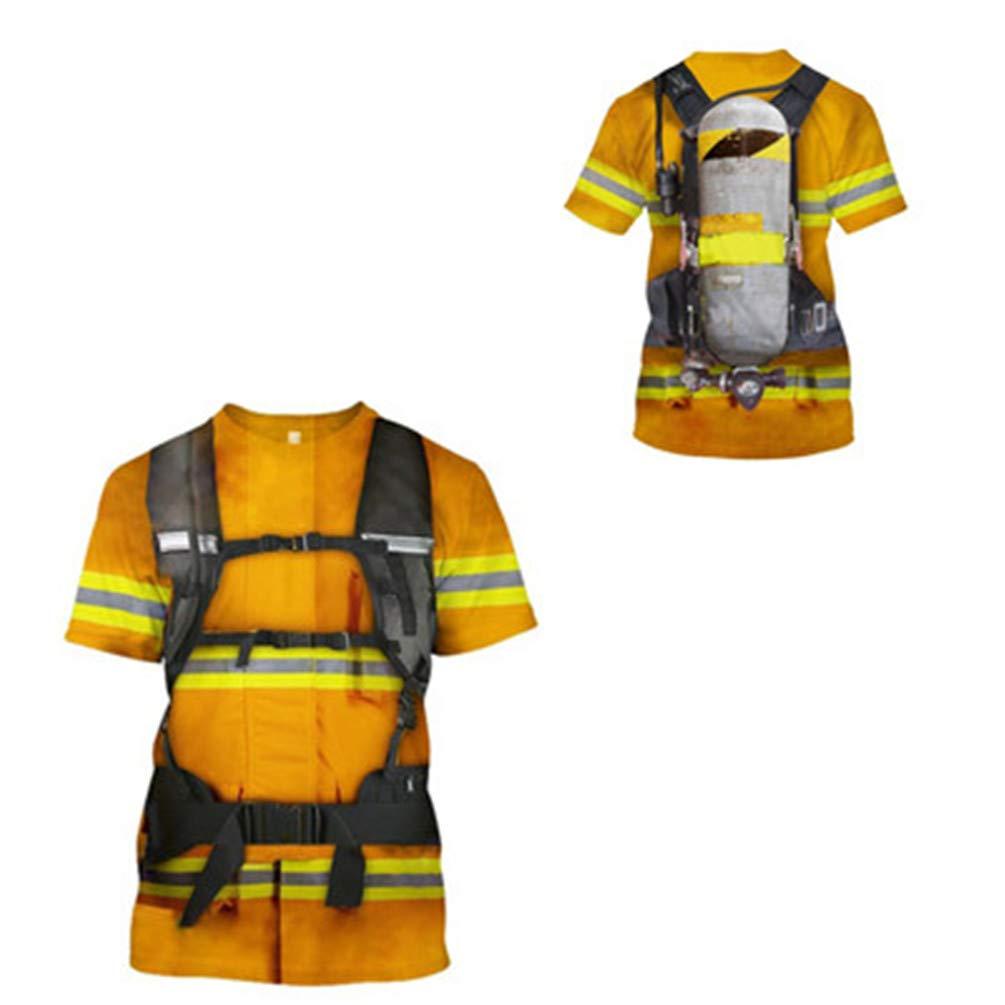 Amazon.com: ONSEFZMZ - Traje de bomberos con estampado 3D ...