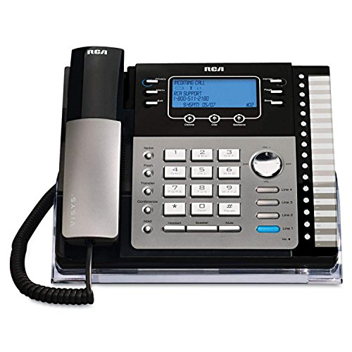 RCA ViSys 25424RE1 4-Line Expandable System Speakerphone with Call Waiting/Caller ID/Intercom from RCA