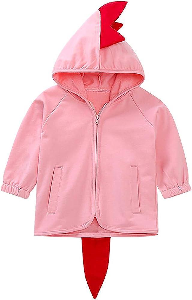 Baby Boys Cute Animal Coat Dinosaur Cotton Hooded Sweatshirt Spring Fall Jackets