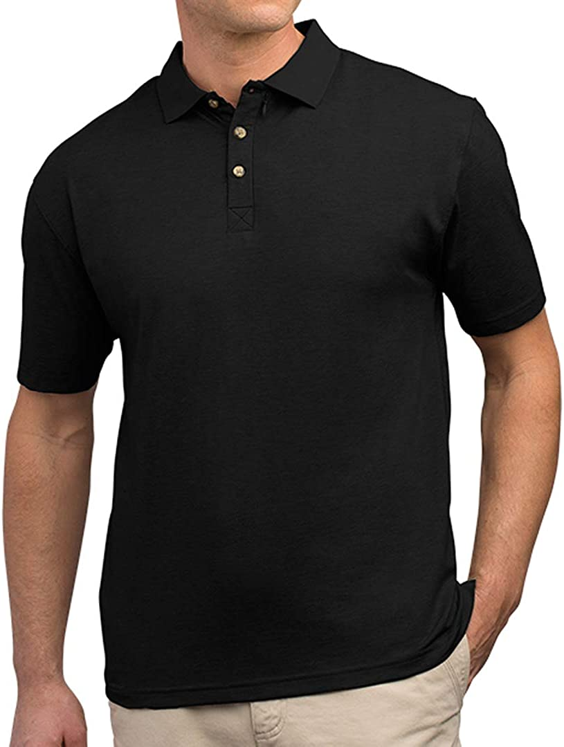 SCOTTeVEST Men's Bamboo Polo Shirt | 3 Concealed Pockets | Anti-Pickpocket