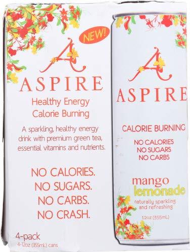Aspire Energy Mango Lemonade 4Pk (Pack of 12)