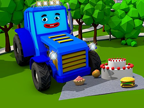 Blue Tractor and picnic
