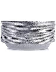 """DOBI 9"""" Pie Pans (30 Pack) - Disposable Aluminum Foil Pie Plates, Standard Size, 9"""" x 1.25"""""""