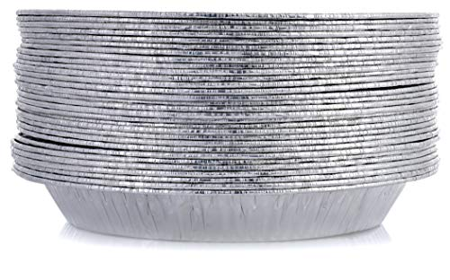 DOBI 9 Pie Pans (30 Pack) - Disposable Aluminum Foil Pie Plates, Standard Size, 9 x 1.25